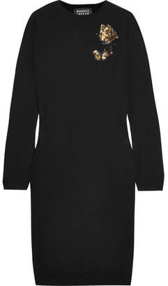 Markus Lupfer Nora Embellished Wool Dress - Black