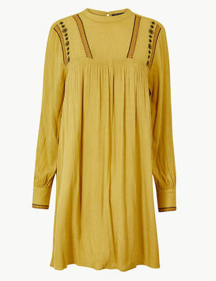 Marks and Spencer Embroidered Mini Relaxed Dress