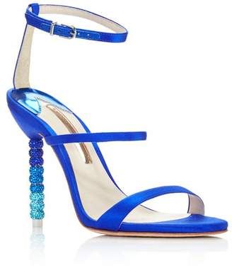 Sophia Webster Women's Rosalind Crystal Satin High-Heel Sandals