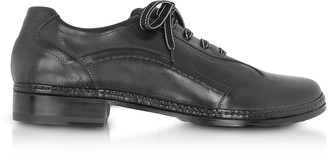 Pakerson Black Italian Handmade Leather Lace-up Shoes