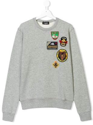 DSQUARED2 TEEN badges sweatshirt
