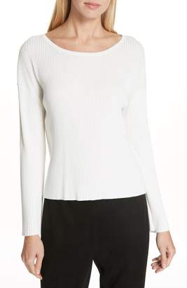 Eileen Fisher Wide Neck Tunic Sweater