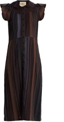 Ace&Jig Ophelia ruffled-sleeved striped cotton dress