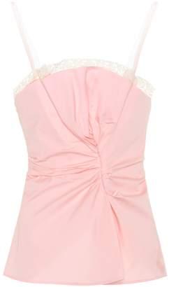 Jacquemus Le Haut Rose cotton camisole