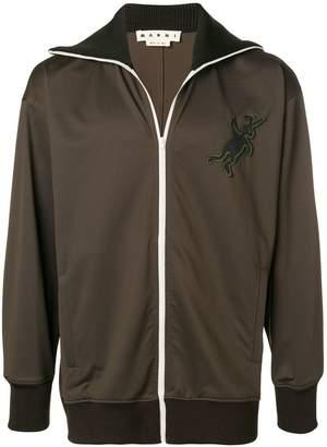 Marni logo bomber jacket