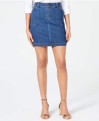 c9b47d1ac INC International Concepts I.N.C. Zip-Front Denim Skirt, Created for Macy's