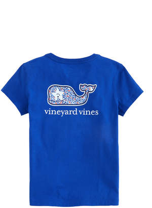 Vineyard Vines Girls Whale Stars Whale Fill Pocket Tee