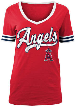 5th & Ocean Women's Los Angeles Angels Retro V-Neck T-Shirt