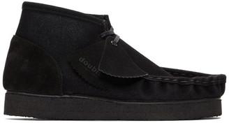 Doublet Black Leather Flocky Short Boots