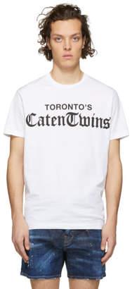 DSQUARED2 White Torontos Caten Twins T-Shirt