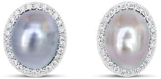 Ri Noor - Mismatched Tahitian Pearl Stud Earrings
