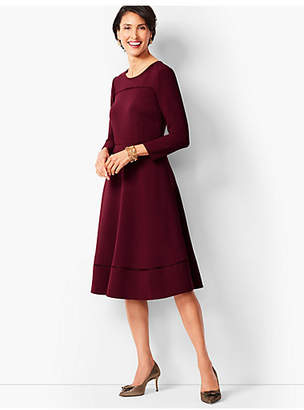 Talbots Tailored Crepe Fit & Flare Dress
