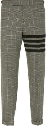 Thom Browne Cropped Checked Wool-Crepe Straight-Leg Pants