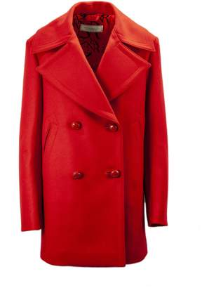 Nina Ricci Red Wool Blend Coat.