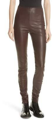 Jason Wu GREY Stretch Leather Skinny Pants