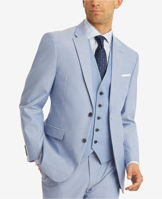 Tommy Hilfiger Closeout! Men's Modern-Fit Th Flex Stretch Blue Chambray Suit Jacket