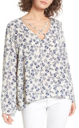 Women's Lush Cross Front Blouse $45 thestylecure.com