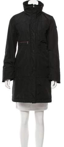 Post Card Hooded Short Coat