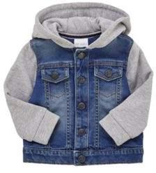 F&F Jersey Hooded Denim Jacket 3-6 months