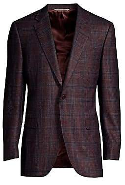 Canali Men's Woven Plaid Sports Jacket