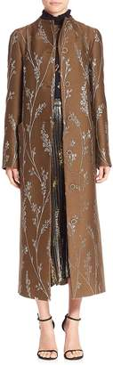 Suno Women's Lurex Floral Maxi Coat