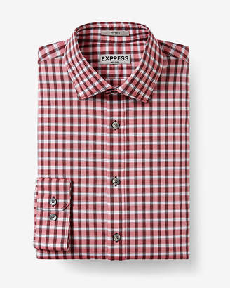 Express Slim Fit Check Non-Iron Dress Shirt