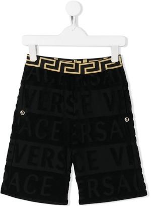 Versace logo pattern shorts