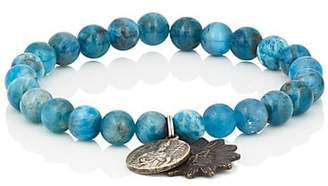 Miracle Icons Men's Vintage-Icon Beaded Bracelet - Blue
