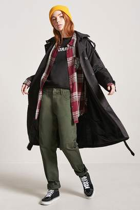 Forever 21 Hooded Trench Coat