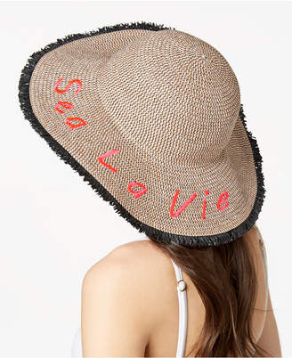 INC International Concepts I.N.C. Sea La Vie Fringe Floppy Hat, Created for Macy's