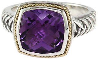 Effy 18K Yellow Gold Sterling Silver Amethyst Ring