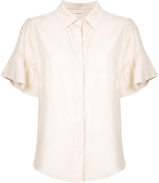 Masscob ruffled sleeves shirt