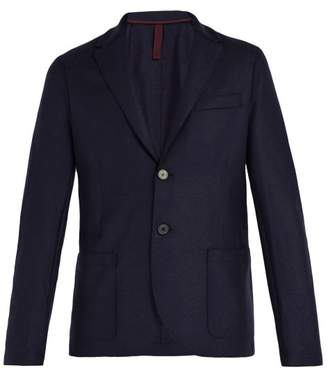 Harris Wharf London Slim Fit Wool Blazer - Mens - Navy