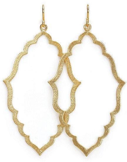 Dogeared Moroccan Earrings, Gold 1 ea
