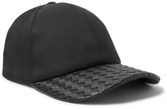 Bottega Veneta Cotton-Blend Twill And Intrecciato Leather Baseball Cap