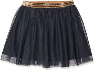 Name It Girl's Nkftullu Tulle Skirt Noos, Blue Dark Sapphire
