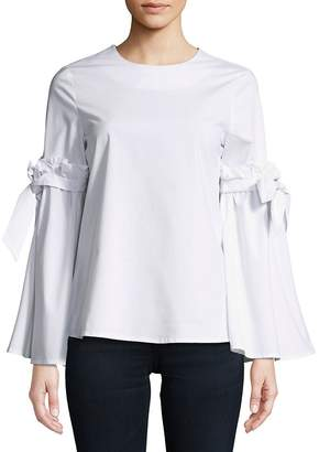 Cupio Women's Ruffled Tie Top