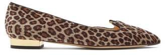 Charlotte Olympia Kitty D'orsay Leopard Print Flats - Womens - Leopard