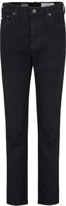 AG Jeans Isabelle Straight Jeans in 01 Year Black Hawk