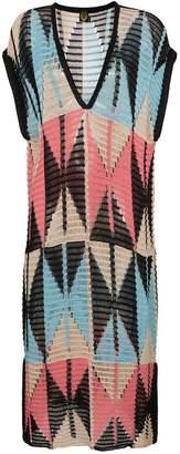 A Peace Treaty Geometric Knit Dress