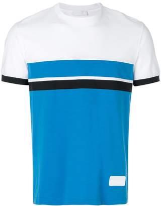Prada colour block jersey T-shirt