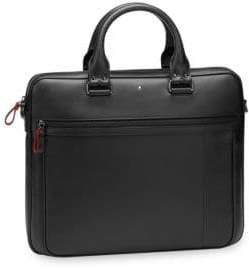 Montblanc Men's Slim Leather Document Case - Black