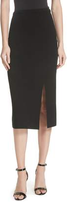 Diane von Furstenberg Side Slit Stretch Knit Pencil Skirt