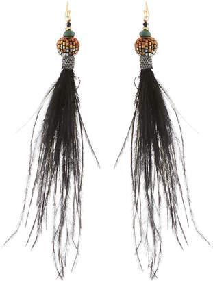 Nakamol Long Feather Dangle Earrings