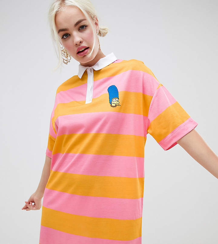 The Simpsons x ASOS DESIGN rugby shirt dress