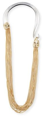 Alexis Bittar Two-Tone Long Chain Draping Necklace $795 thestylecure.com