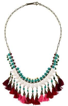 Isabel Marant Bead Tassel Collar Necklace