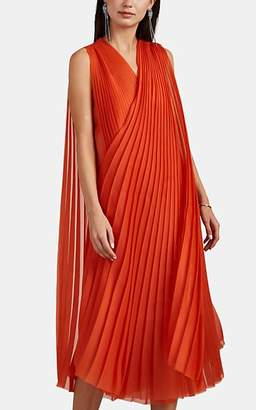 Lanvin Women's Plissé Organza Cocktail Dress - Orange