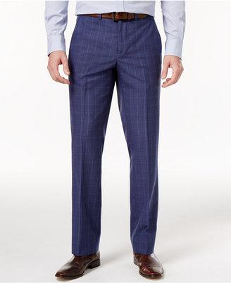 Nautica Men's Slim-Fit Blue Glen Plaid Dress Pants $95 thestylecure.com