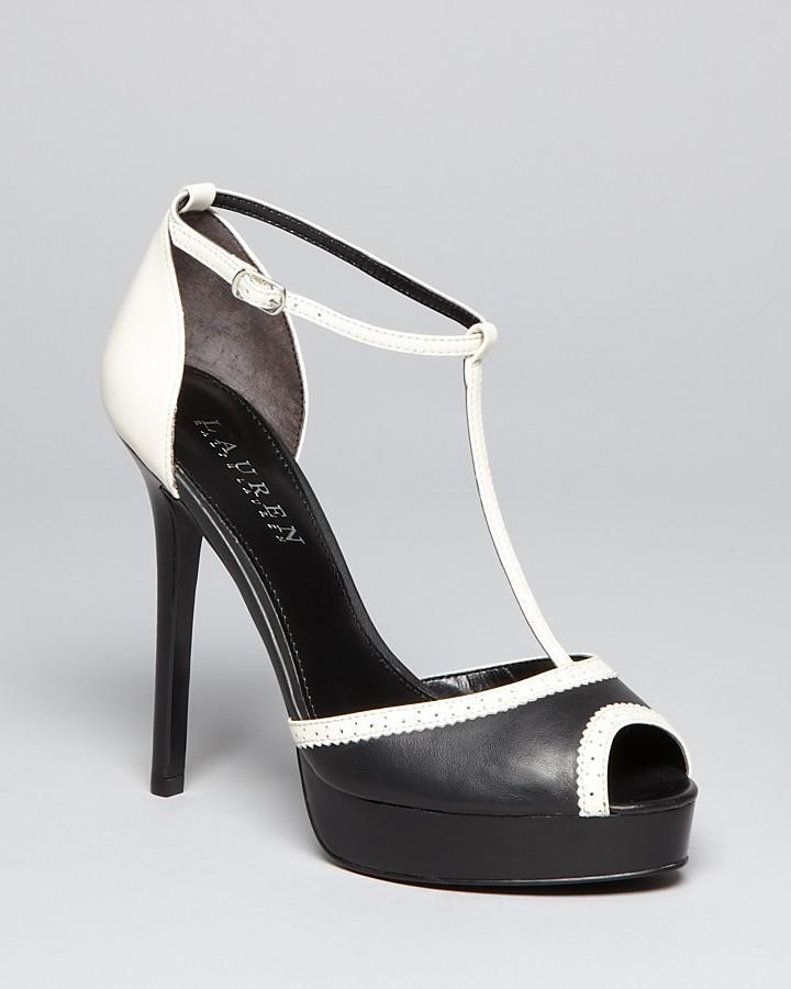 Lauren Ralph Lauren Peep Toe Ankle Strap Platform Pumps - Dallas